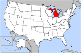 map of michigan map of us